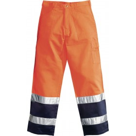 HV TOOLS ORANGE / BLUE TROUSERS TG. XL