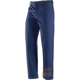 100% COTTON MOLESKIN TROUSERS GR 340 350 BLUE COLOR TG 46 62