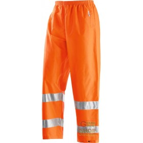 TROUSERS IN GB TEX FABRIC WITH 3M EN 471 EN 343 BANDS COLOR ORANGE TG S XXL