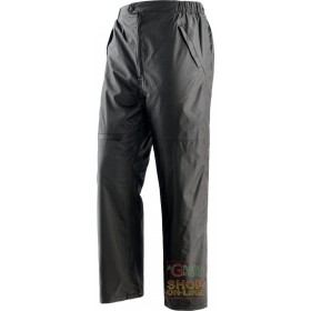PADDED POLYESTER PVC PANTS IN DETACHABLE FLEECE OPENING ON THE SIDES WITH 2 EXTERNAL ZIPPERS COLOR BLACK