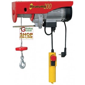 EUROPEAN TIRATUTTO ELECTRIC HOIST 200 HERCULES KG. 200/400 CABLE ML. 18