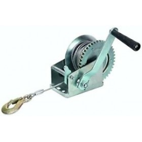 MANUAL WINCH HOIST 1000 LB STEEL CABLE MT. 8 MM. 4.5