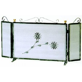 WROUGHT IRON SPARKLING GUARD WITH DOORS CM. 80X39H