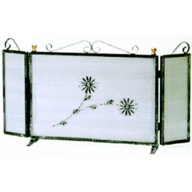 WROUGHT IRON SPARKLING GUARD WITH DOORS CM. 90X48H