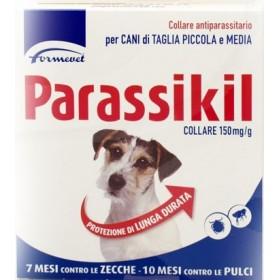 PARASSIKIL COLLARE ANTIPARASSITARIO PER CANE DI TAGGLIA PICCOLA