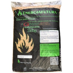 PELLETS FOR STOVES BRAZILIAN WHITE ENERGY FUTURE OF PURE VIRGIN PINE KG. 15