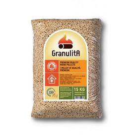PELLETS FOR STOVES GRANULITA PELLETS FIR WOOD 100% KG. 15