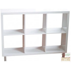 DAY CABINET 6 ROOMS WHITE LACQUERED CM.120X30X90