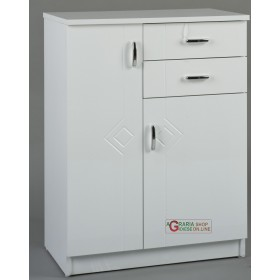 BATHROOM FURNITURE RIGO BIANCO TWO DOORS AND TWO DRAWERS CM. 60 x 33 x 80h