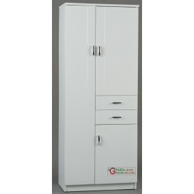 WHITE RIGO BATHROOM FURNITURE THREE DOORS AND TWO DRAWERS CM.
