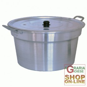 ALUMINUM BOILER POT WITH LID CM. 32