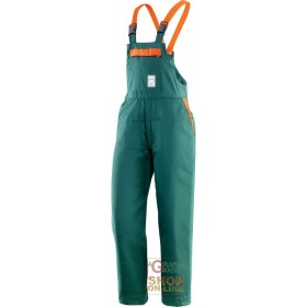 BIB 65% POLYESTER 35% PADDED COTTON FOR USE OF CHAIN SAWS EN 381 5 TG SML XL XXL