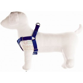 ADJUSTABLE HARNESS FOR DOGS SPEEDY IN NYLON MM. 15 SIZE M BLUE