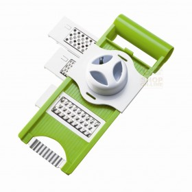 MOHA PLASTIC MANDOLIN 5 FUNCTIONS FOR CUTTING AND GRATER WITH HAND PROTECTOR