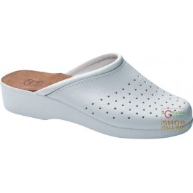PIANELLA PERFORATED LEATHER POLYURETHANE SOLE WHITE COLOR TG 35 41