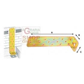 CORNER PLATE WITH CORNER JOINT ART. 754 MM. 50X300X45