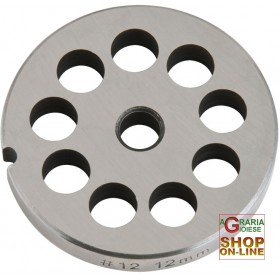 STAINLESS STEEL PLATE FOR MEAT MINCER 12 HOLE 12