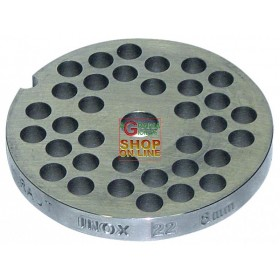 STAINLESS STEEL PLATE FOR MEAT MINCER 22 HOLE 8