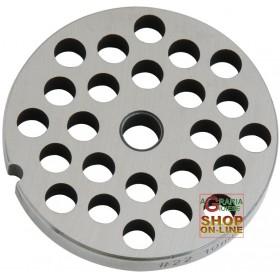 STAINLESS STEEL PLATE FOR MEAT MINCER 22 HOLE 10