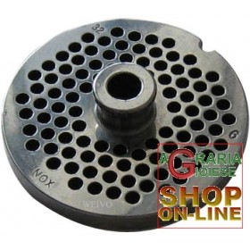 STAINLESS STEEL PLATE FOR MEAT MINCER 32 HOLE 6