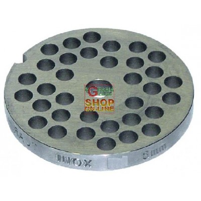 STAINLESS STEEL PLATE FOR MEAT MINCER 8 HOLE 8