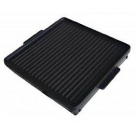 SMOOTH AND STRIPED NON-STICK TEFLON COATED CAST IRON PLATE CM.