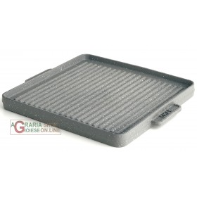 CAST IRON PLATE COVERED NON-STICK TEFLON COATED GRILL OMAC CM.