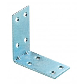 CORNER PLATES 8 HOLES IN GALVANIZED STEEL CM. 5x5 PCS. 4