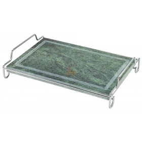 RECTANGULAR SOAPSTONE WITH STEEL FRAME CM. 20 X 30