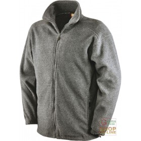 100% POLYESTER FLEECE WITH ZIPPER AT THE BOTTOM COLOR MELANGE GRAY TG S XXL