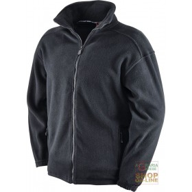 100% POLYESTER FLEECE WITH ZIPPER AT THE BOTTOM COLOR BLACK TG S XXL