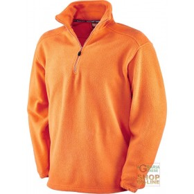 100% POLYESTER FLEECE WITH MOCK NECK ORANGE COLOR SIZE S XXL