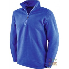 100% POLYESTER FLEECE WITH MOCK NECK BLUE COLOR TG S XXL