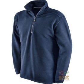 100% POLYESTER FLEECE WITH MOCK NECK NAVY BLUE COLOR TG S XXL
