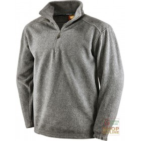 100% POLYESTER FLEECE WITH MELANGE GRAY COLLAR, TG S XXL