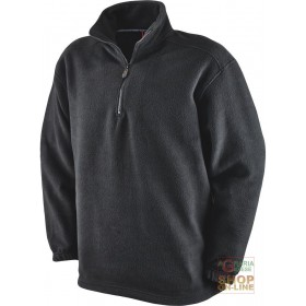 100% POLYESTER FLEECE WITH MOCK NECK COLOR BLACK TG S XXL