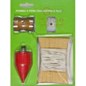 PEAR-SHAPED LEAD WITH BOX AND WIRE GR. 300