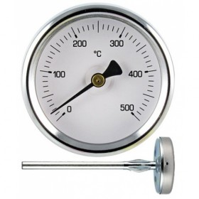 PYROMETER THERMOMETER FOR OVEN 55 mm STAINLESS STEEL 5.5 cm SHANK