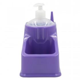 PLATICFORTE DISPENCER SOAP DISH WITH SQUARE SPONGE HOLDER