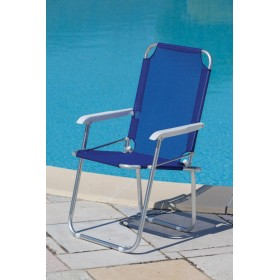 PLAYA ALUMINUM ARMCHAIR MOD. MAGNUM BLUE COLOR