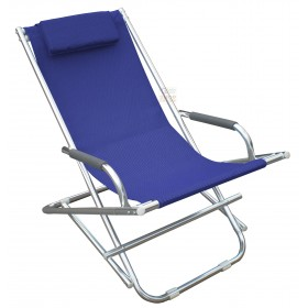 PLAYA DECK CHAIR IN ALUMINUM COLOR BLUE