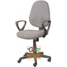 SWIVEL RAISED OFFICE ARMCHAIR GAG IN FABRIC