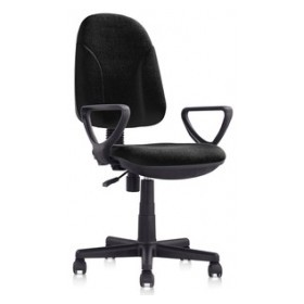 GAS SWIVEL OFFICE ARMCHAIR WITH ARMRESTS BLACK