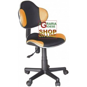 NEW ELVY SWIVEL OFFICE ARMCHAIR BLACK-ORANGE