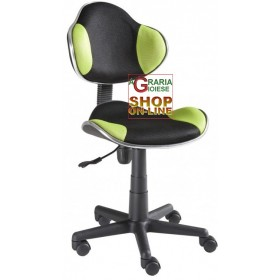 NEW ELVY SWIVEL OFFICE ARMCHAIR BLACK-GREEN
