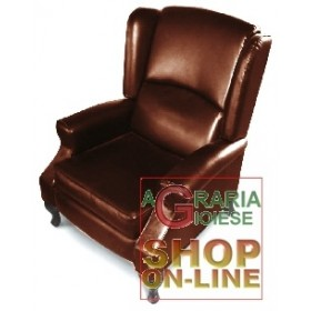 RECLINER ARMCHAIR MOD. CRIZIA DARK BROWN