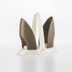 DUO CUP HOLDER IN PLASTIC Mother-of-Pearl-Taupe 7532C