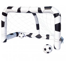 INFLATABLE SOCCER GOAL WITH BALLS CM.213x122x137h.