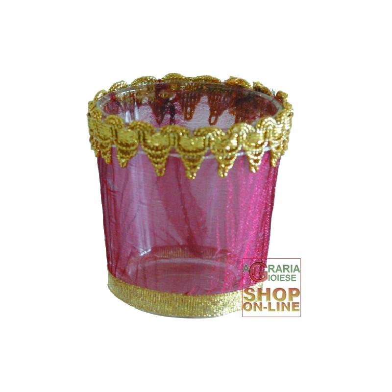 Porta tea light toulle in vetro - Porta tea light ...