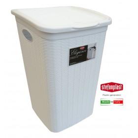 Portabiancheria Elegance In Plastica bianco lt. 50